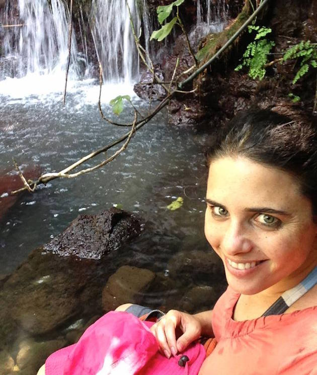 Ayelet Shaked hiking in Israel's Golan Heights / Facebook