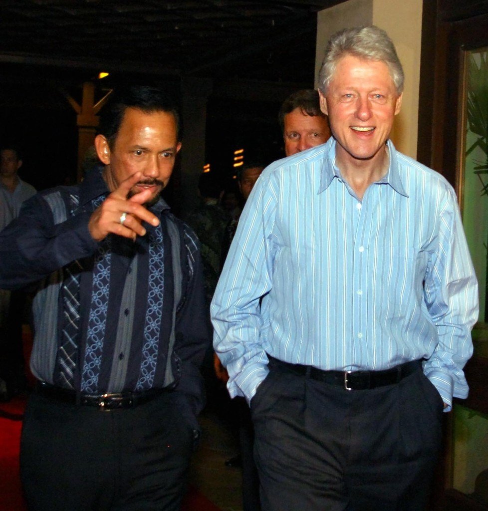 Bill Clinton and the Sultan of Brunei