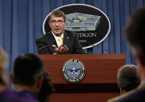 U.S. Defense Secretary Ash Carter speaks at a news conference at the Pentagon in Washington