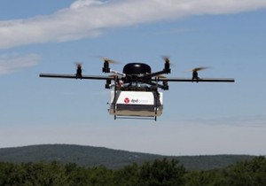 Drone flying in France