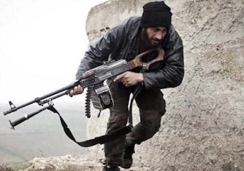 A Free Syrian Army fighter in 2012