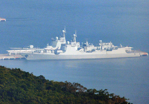 'Chinese Aegis' found anchored at naval base on Hainan