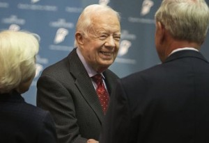 Jimmy Carter before press conference Thursday