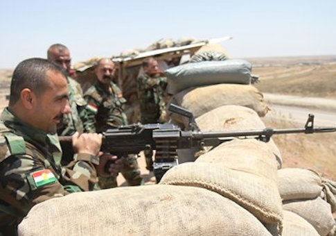 Kurdish Peshmerga soldiers in northern Iraq