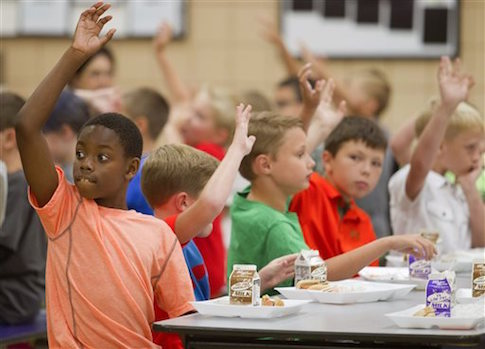 school lunch cafeteria