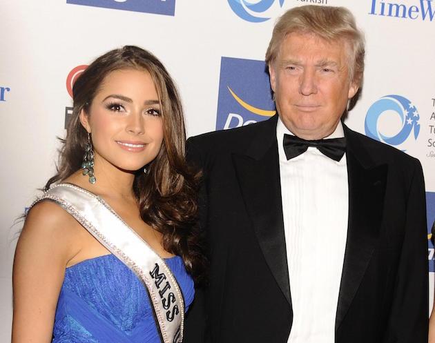 Olivia Culpo, Donald Trump  / AP