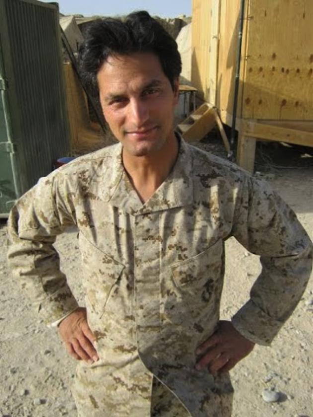 Kazikhani at Camp Delaram where he embedded with Marines