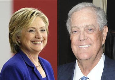 Hillary Clinton, David Koch