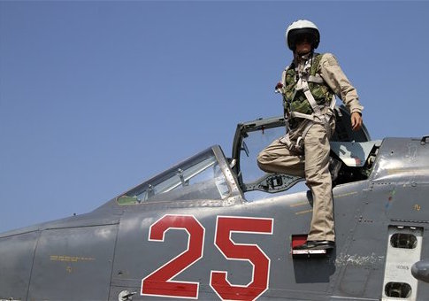Russian army pilot in Syria