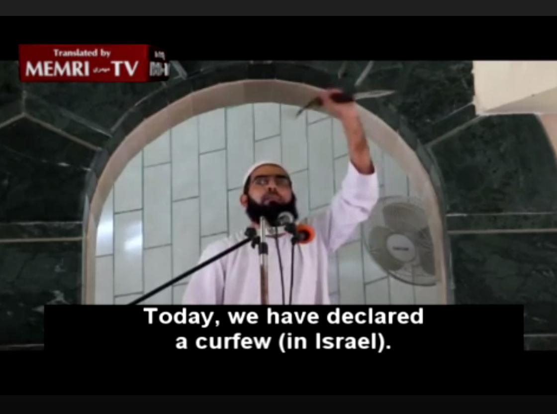 Screenshot from sermon / MEMRI