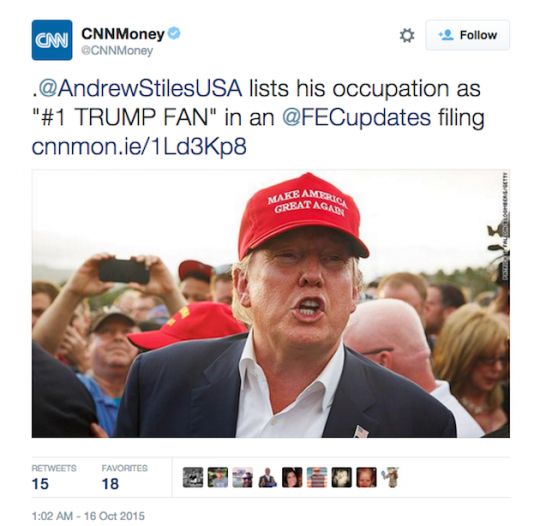 CNN tweet Donald Trump Andrew Stiles