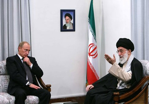 Vladimir Putin and Ayatollah Ali Khamenei