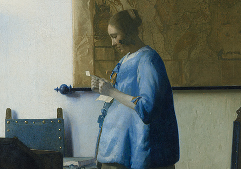 woman in blue reading a letter republican washington free beacon 25664 | Woman in Blue Reading a Letter feature
