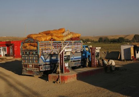 A gas station in Afghanistan in 2009