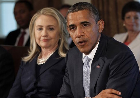 Hillary Clinton and Barack Obama in 2012