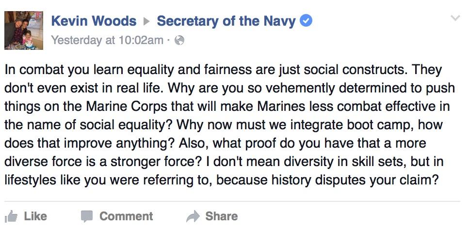 Kevin Woods, a former Marine Corps squad leader, via Facebook
