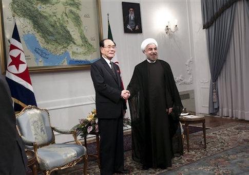 Hasan Rouhani, Kim Yong Nam