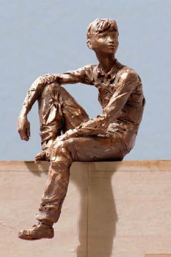 Design for a bronze statue of Dwight Eisenhower as a boy / Eisenhower Memorial Commission