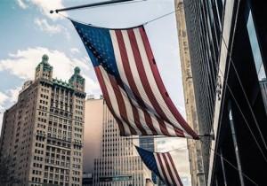 American flag Manhattan