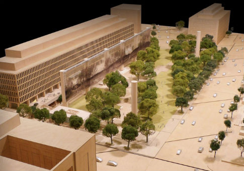 Design for the Eisenhower memorial by Frank Gehry / Eisenhower Memorial Commission