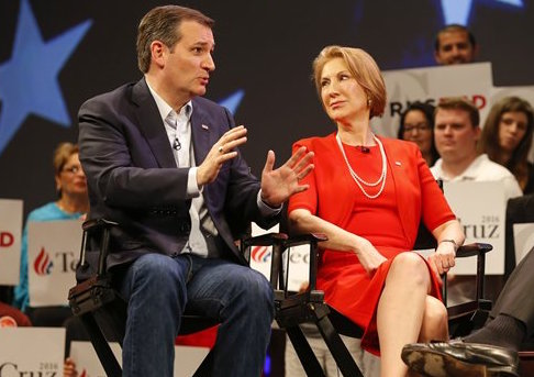 Ted Cruz and Carly Fiorina / AP