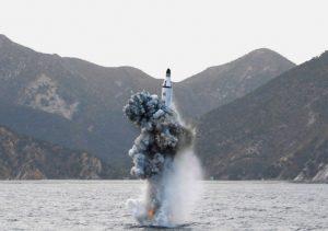 North Korean underwater test-fire of strategic submarine ballistic missile