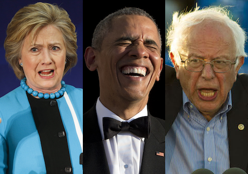 Clinton Obama Sanders