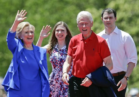 Marc Mezvinsky, right, with Bill, Chelsea, and Hillary Clinton