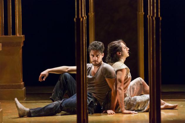 Peter Gadiot as Petruchio and Maulik Pancholy as Katherina / Scott Suchman