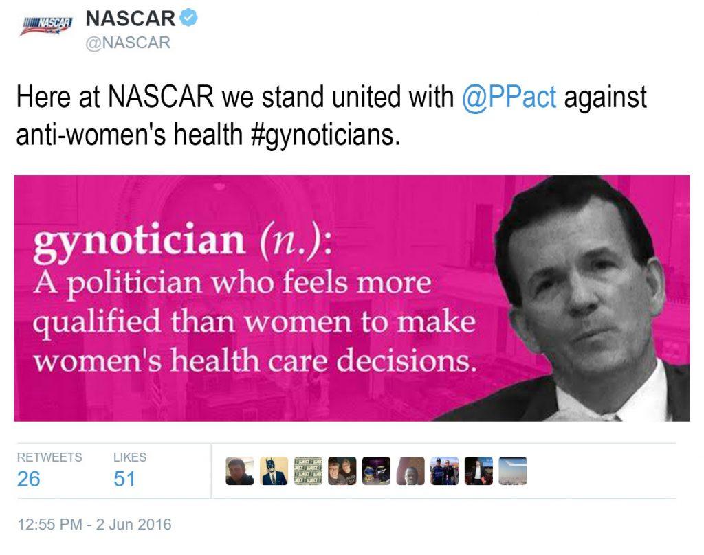 NASCAR Tweet