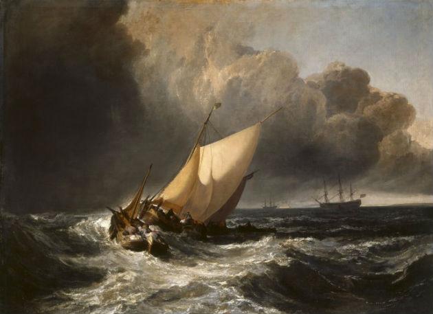 'Dutch Boats in a Gale' by J.M.W. Turner (1801)