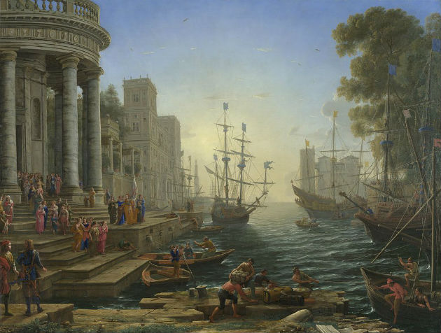 'Seaport with the Embarkation of Saint Ursula' by Claude Lorrain (1641)