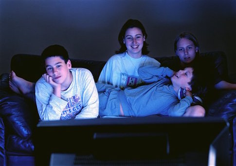 teens watching tv