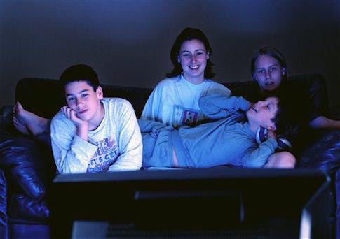 teens watching tv