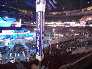 North Dakota delegation's view of the stage