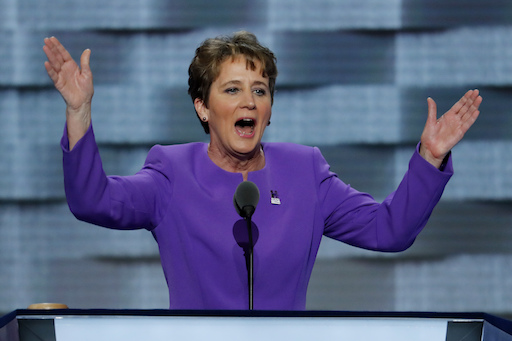 Mary Kay Henry, President of SEIU speaks during the first day of the Democratic National Convention in Philadelphia , Monday, July 25, 2016. (AP Photo/J. Scott Applewhite)