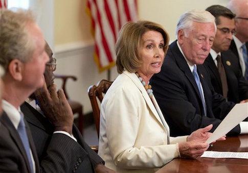 Nancy Pelosi, James Clyburn, Steny Hoyer, Xavier Becerra, Chris Van Hollen