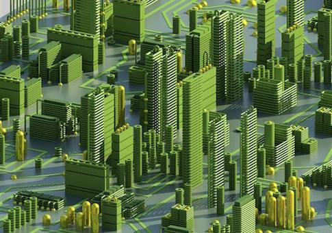 Circuit city, computer artwork