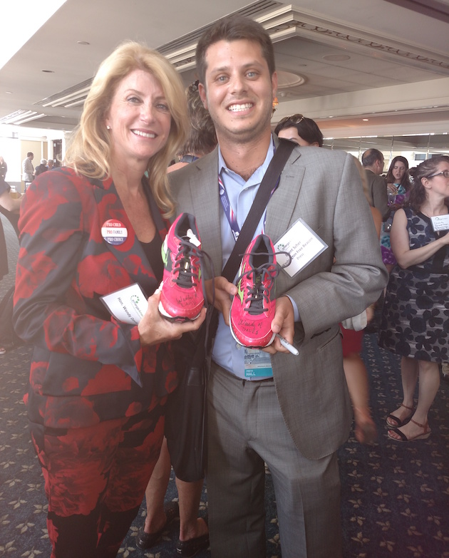 me and wendy davis with shoes