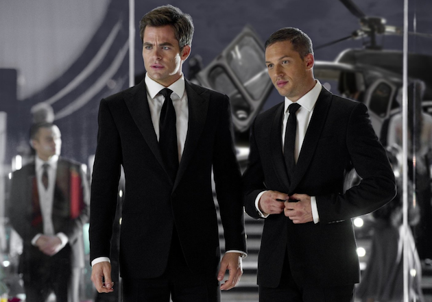 """Chris Pine and Tom Hardy in """"This Means War"""""""