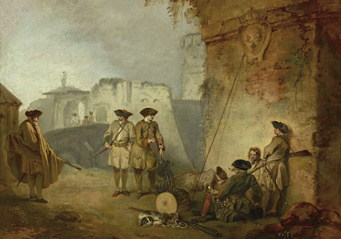 Jean-Antoine Watteau (1684–1721) The Portal of Valenciennes, ca. 1710–11 Oil on canvas 12 3/4 x 16 inches The Frick Collection; purchased with funds from the bequest of Arthemise Redpath, 1991 Photo: Michael Bodycomb