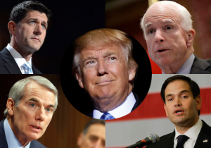 Paul Ryan, John McCain, Rob Portman, Marco Rubio, Donald Trump