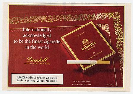 Dunhill Cigarette Ad 1993