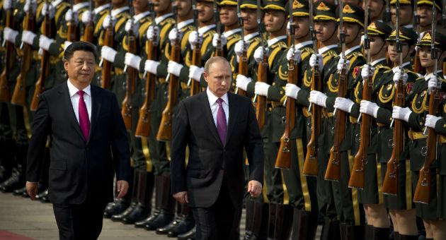 Chinese President Xi Jinping with Russian President Vladimir Putin / AP