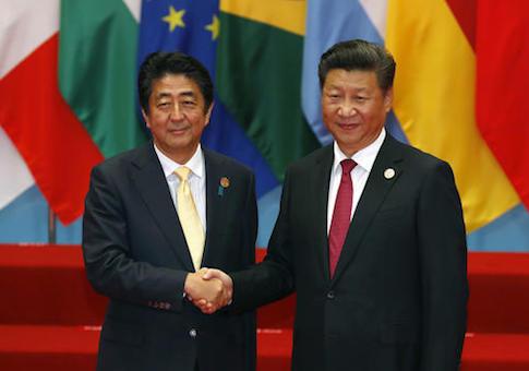 Shinzo Abe, Xi Jinping