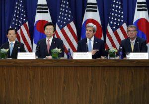 John Kerry,Ash Carter,Yun Byung-se,Han Min-koo
