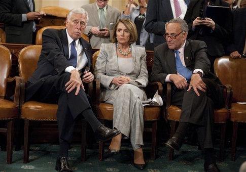 Steny Hoyer, Nancy Pelosi, and Chuck Schumer