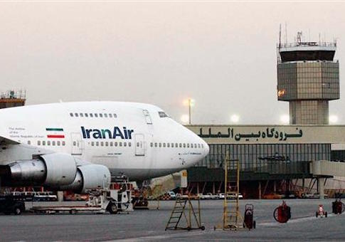 a Boeing 747 of Iran's national airline is seen at Mehrabad International Airport in Tehran
