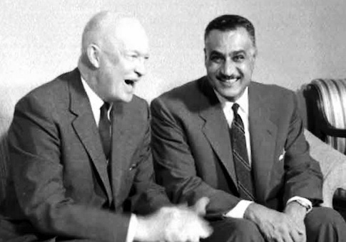 Eisenhower and Nasser in 1960