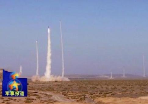 DF-21 salvo launch